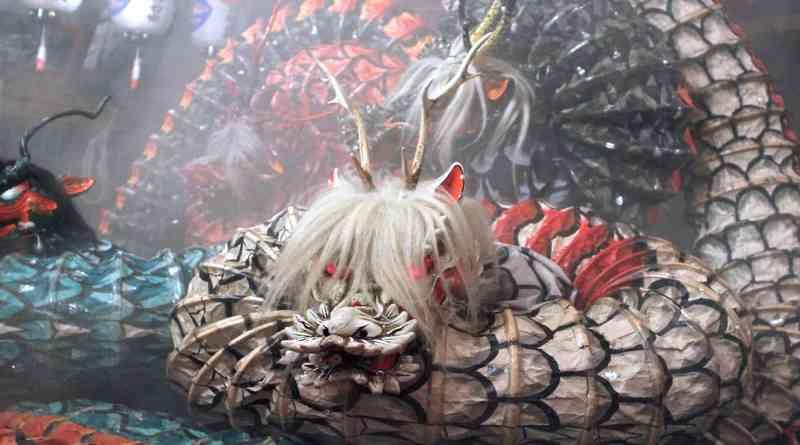 Yamata-no-orochi performed by the Matsubara Kagura Troupe
