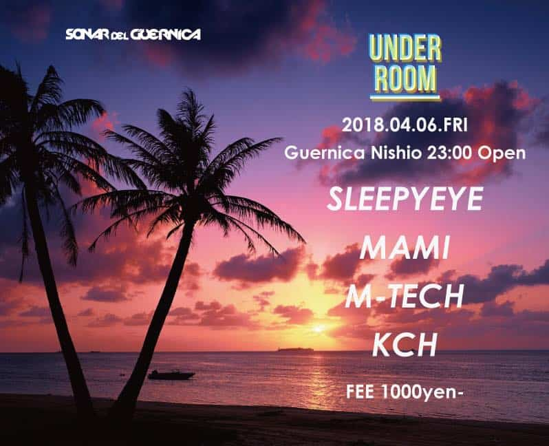 under room club night at Guernica in Hiroshima