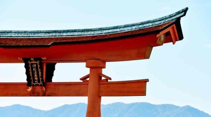 Miyajima torii shrine gate rennovations