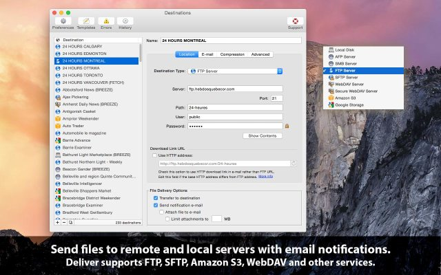 Deliver Express For Mac OS X