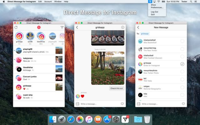 Direct Message for Instagram For Mac OS X