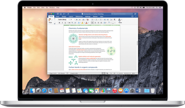 Microsoft Office 2016 Mac OS X