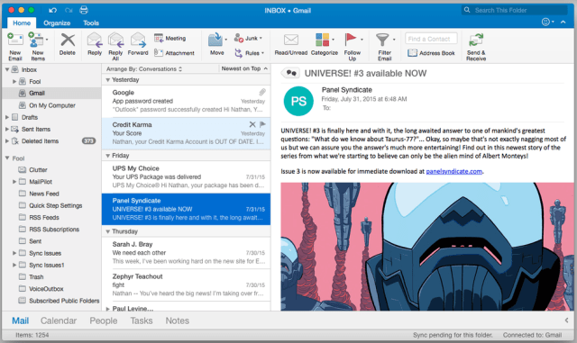 Microsoft Outlook 2016 For Mac OS X