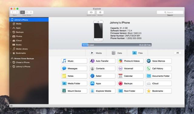 iExplorer For Mac OS X