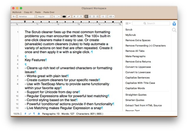 TextSoap For MacOSX
