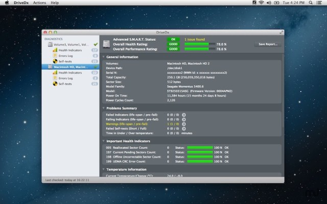 DriveDx For MacOSX
