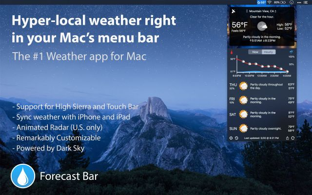 Forecast Bar Mac Free
