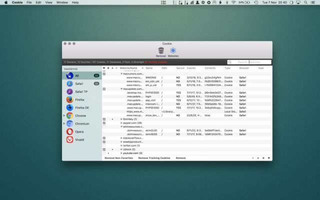Cookie For MacOSX