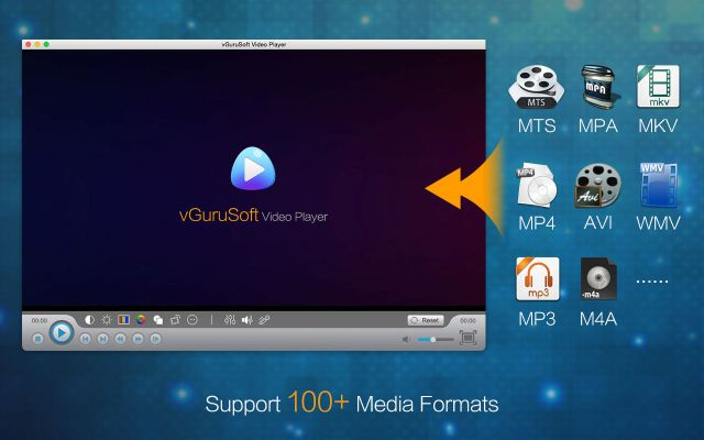 vGuruSoft Video Player mac