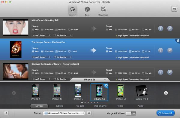 Aimersoft Video Converter Ultimate mac