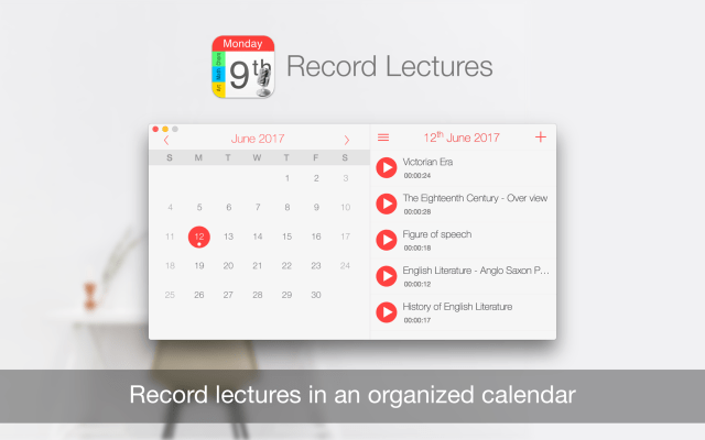 Record Lectures mac