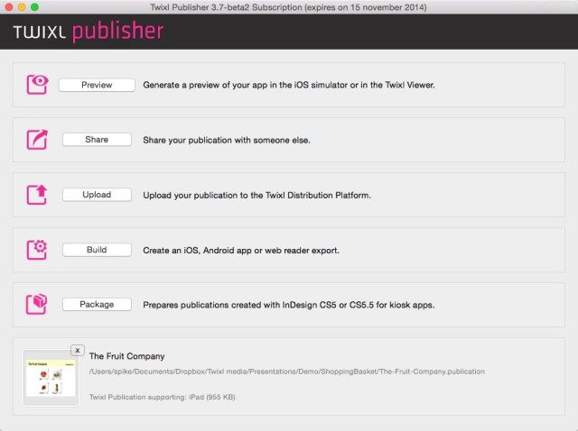 Twixl Publisher mac