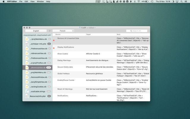 Xliff Editor mac