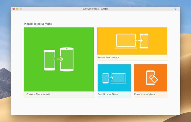 iSkysoft Phone Transfer mac