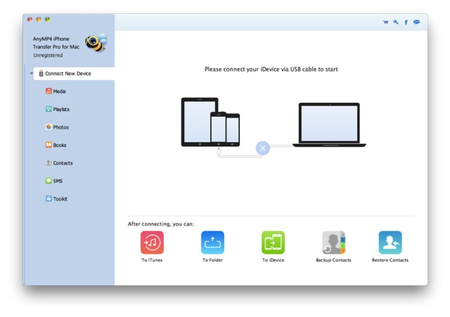 AnyMP4 iPhone Transfer mac