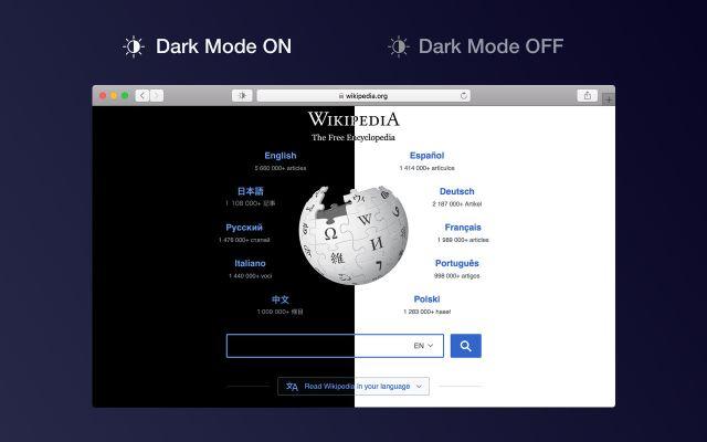 Dark Mode for Safari mac