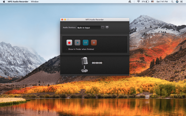 MP3 Audio Recorder mac
