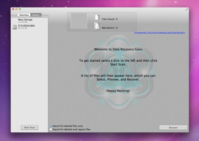Mac Data Recovery Guru mac