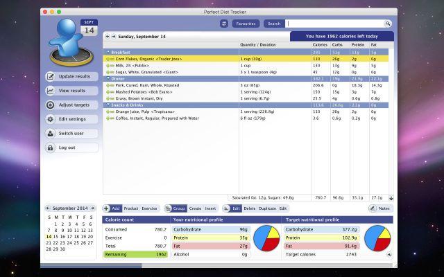 Perfect Diet Tracker mac