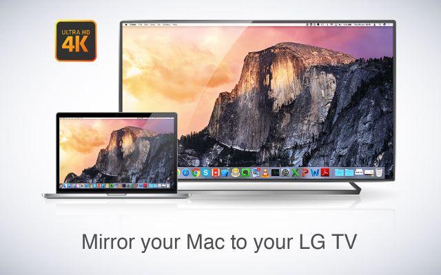 Mirror for LG TV mac