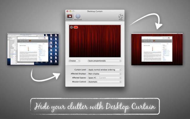 Desktop Curtain Mac