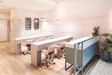 Inside California Nails salon, Barangaroo