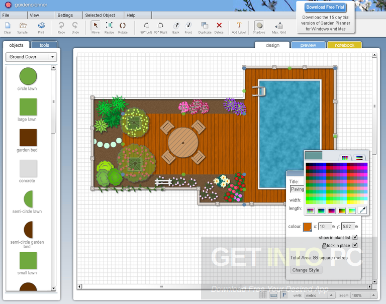 Garden Planner Free Download on Backyard Layout Planner id=58368