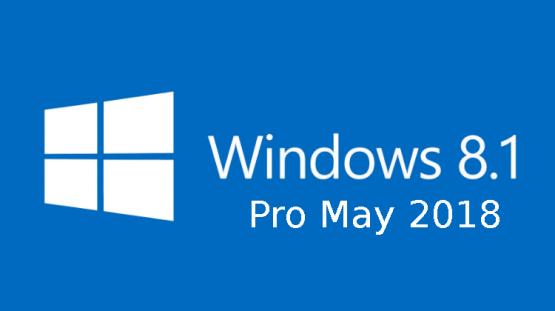 Windows 8.1 Pro May 2018 Free Download