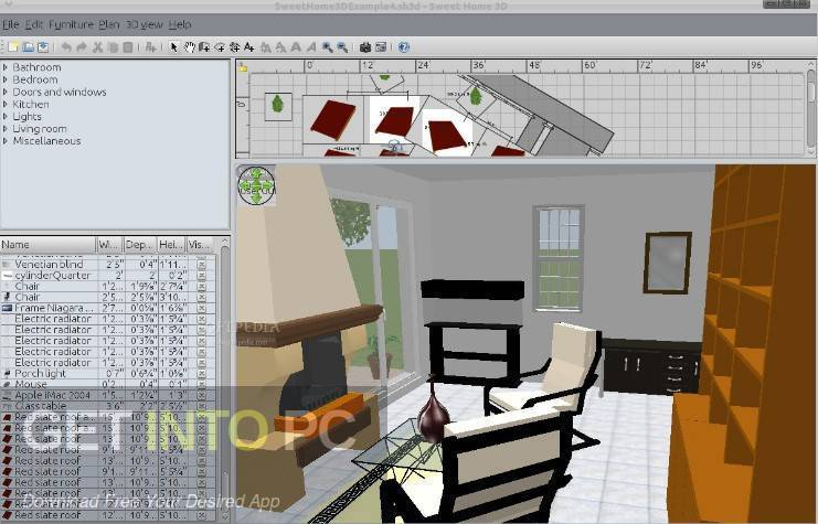 Sweet home is quite basic but it's free, really easy to use and it runs very quickly on even fairly modest hardware. Sweet Home 3d 6 Free Download