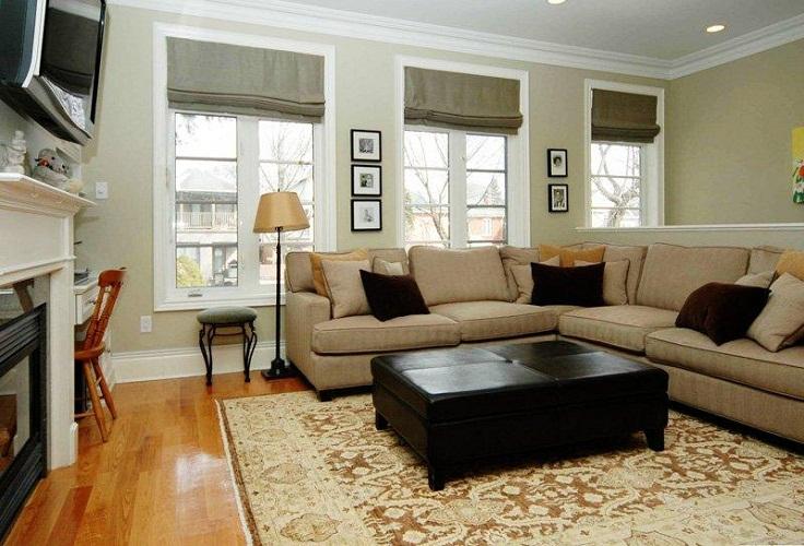 Amazing Wood Flooring Black Coffee Table Grey Sofa Small