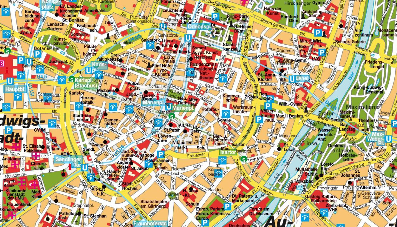 münih şehir haritası ile ilgili görsel sonucu