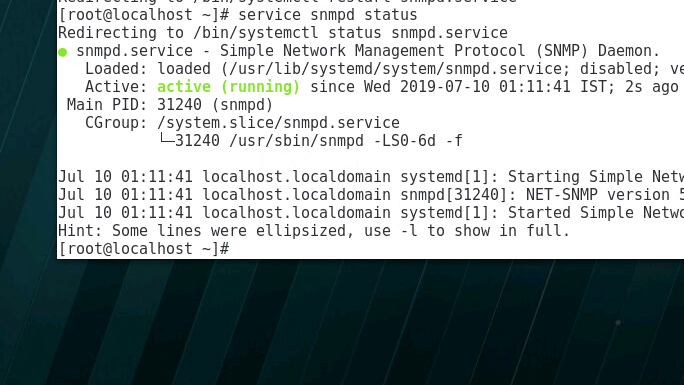 Configure SNMP monitoring on Redhat servers - enable redhat