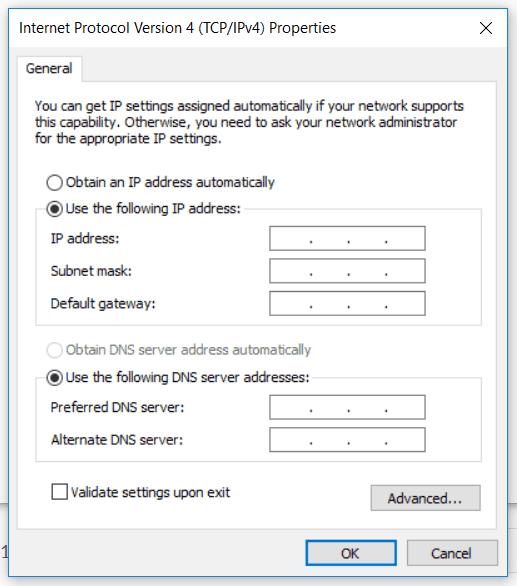windows IP configuration