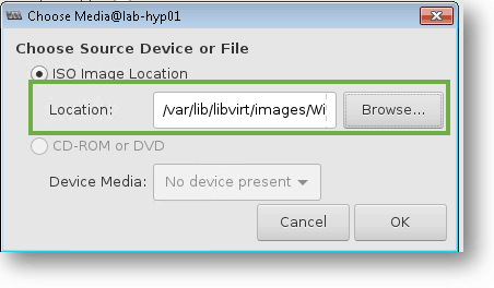 attach the windows 10 vm to the KVM