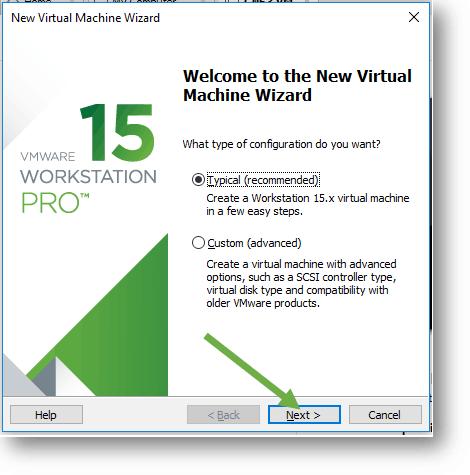 VMware workstation 15 installation wizard