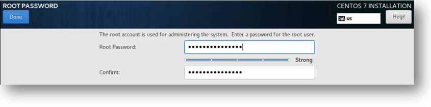 setting the root password for CentOS vm