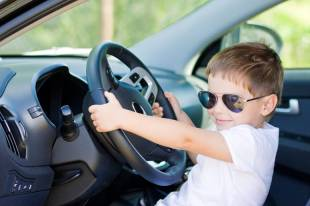 Kid Driving Car