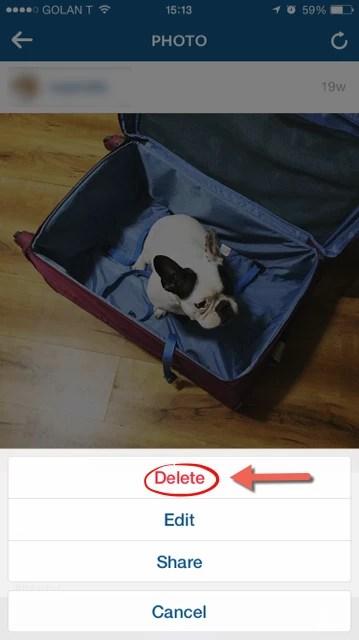 Delete Instagram Picture