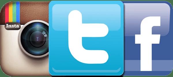 Instagram, Twitter, Facebook, Logo
