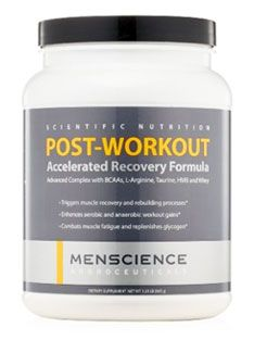 Post-workout accelerated recovery formula supplement by MenScience Androceuticals