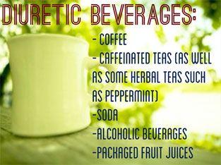 Diuretic beverages