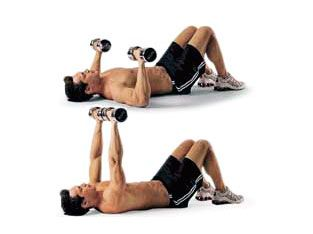 Program 2: Dumbbell floor press workout