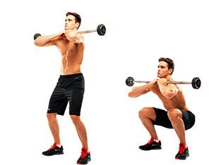 Program 1: Front barbell squat workout