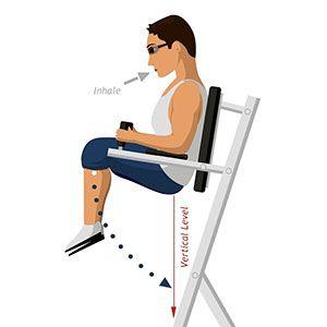 Exercise 1: Roman chair knee raise