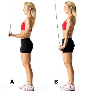 Exercise 6: Rope tricep pushdown