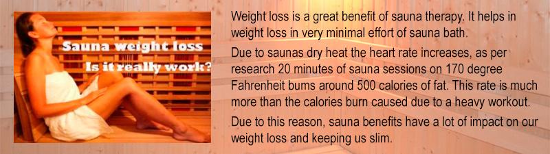 Saunas Cause Weight Loss