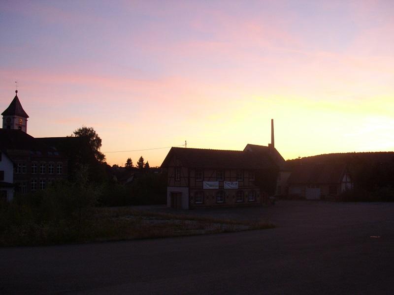 Kandern al tramonto