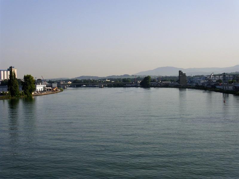 Il Reno visto dal Il Reno visto dal Dreiländerbrücke