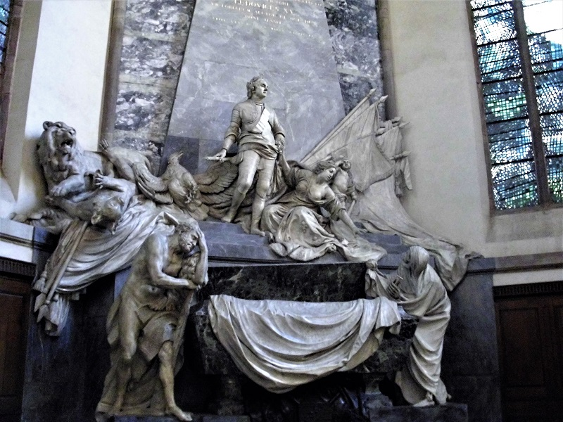 Strasburgo mausoleo a maurice de saxe nella chiesa di san tommaso
