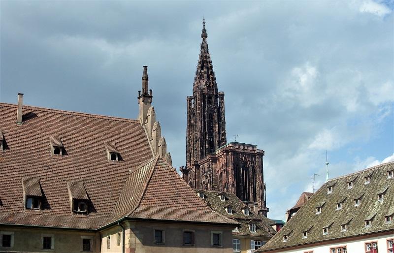 Strasburgo la torre della cattedrale